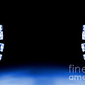 Blue Led Lights Both Sides Of The Image With Space For Text by Simon Bratt Photography LRPS