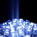 Blue Led Lights With Light Beam by Simon Bratt Photography LRPS