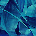 Blue Linear Mesh No 1 by Joy McKenzie