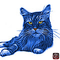 Blue Maine Coon Cat - 3926 - Wb by James Ahn