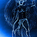 Blue Male Angel by Giorgio Tuscani