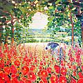 Blue Mare's English Summer Garden by Gill Bustamante
