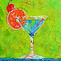Blue Martini - Cherry Me Up - Modern Art by Patricia Awapara
