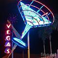 Blue Martini Glass Las Vegas by John Malone