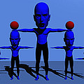Blue Men by Robert Maestas