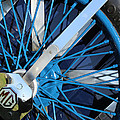 Blue Mg Wire Spoke Rim by Mark Steven Burhart