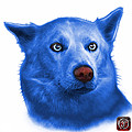 Blue Mila - Siberian Husky - 2103 - Wb  by James Ahn