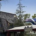 Blue Monorail Fairytale Arts Disneyland by Thomas Woolworth