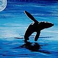 Blue Moon II - Right Side - Acrylic by GD Rankin