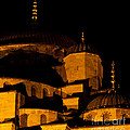 Blue Mosque At Night 02 by Rick Piper Photography