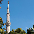 Blue Mosque Minaret 01 by Rick Piper Photography