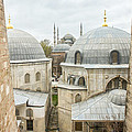 Blue Mosque View From Hagia Sophia by For Ninety One Days