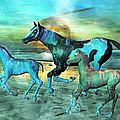 Blue Ocean Horses by Betsy Knapp