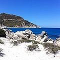 Blue Ocean Rocky Beach by Inge Madsen