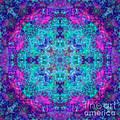 Blue Opal Rainbow Mandala by Susan Bloom