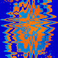 Blue Orange Abstract by Christina Rollo