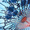 Blue Ornamental Thai Umbrella by Heiko Koehrer-Wagner