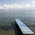 Blue Pier At Lake Ohrid by For Ninety One Days