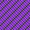 Blue Pink And Black Diagnal Plaid Cloth Background by Keith Webber Jr