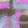 Blue Pink Brown Abstract by Lee Ann Asch
