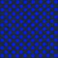 Blue Polka Dots On Black Textile Background by Keith Webber Jr