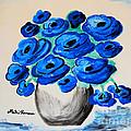 Blue Poppies by Ramona Matei