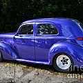 Blue Restored Willy Car by Luther Fine Art
