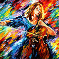 Blue Rhapsody - Palette Knife Oil Painting On Canvas By Leonid Afremov by Leonid Afremov