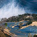 Blue Rice Terrace by Kim Pin Tan