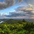Blue Ridge Mountains Panorama by Debra and Dave Vanderlaan
