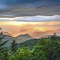 Blue Ridge Parkway Nc - Golden Rainbow by Robert Stephens
