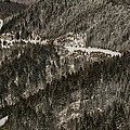 Blue Ridge Parkway With Snow - Aerial Photo by David Oppenheimer