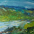 Blue River Landscape II, 1988 Oil On Canvas by Brenda Brin Booker