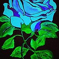 Blue Rose In The Rain by Saundra Myles