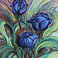 Blue Roses by Jasna Dragun