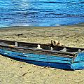 Blue Rowboat by Holly Blunkall