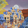 Blue Serpent Pueblo by Jerry McElroy