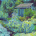 Blue Shed by Susan Hanna
