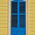 Blue Shutter Door - New Orleans by Bill Cannon