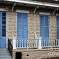 Blue Shutters On Toulouse by John Rizzuto