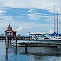 Blue Skies Over Seneca Lake Marina by Photographic Arts And Design Studio