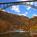Blue Skies Over The New River Bridge by Adam Jewell