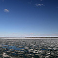 Blue Sky Above The Ice 2  by Lyle Crump