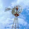 Blue Sky Aermotor Windmill by Randy Steele
