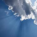 Blue Sky And Sun Rays by Georgia Mizuleva