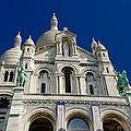 Blue Sky Over Sacre Coeur Basilica by Dany Lison