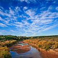 Blue Sky Over The Brazos by Mark Short