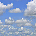 Blue Sky With Cumulus Clouds Day Usa by Sally Rockefeller