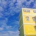 Blue Sky Yellow House by WaLdEmAr BoRrErO