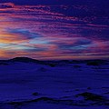 Blue Snow Sunset by Kathi Mirto